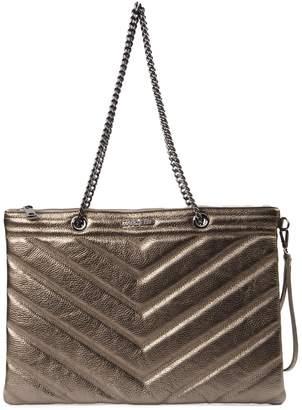 Marc Ellis Laminate Gold Quilted Tote Bag