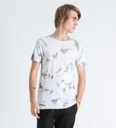 Mister White Marble Print Mr. Chrome Dye T-Shirt