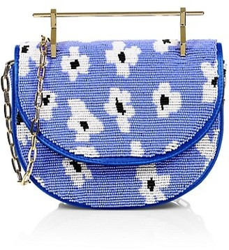 M2Malletier Mini Floral Beaded Top Handle Bag