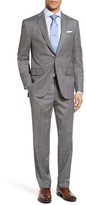 David Donahue Men's Ryan Classic Fit Windowpane Wool Suit