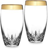 Waterford Lismore Essence Gold 19-Ounce Highball Glasses (Set of 2)