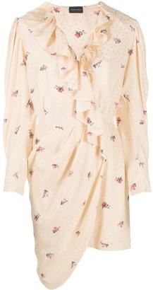 Magda Butrym Ruffled Floral Dress