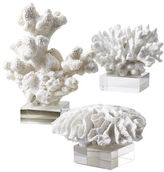 Twos Company Two'S Company White Coral Sculpture Set of Three