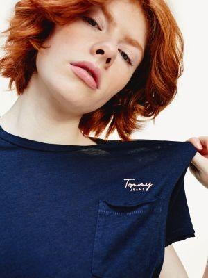 Tommy Hilfiger Cotton Modal Pocket T-Shirt