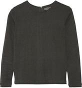 Majestic Herringbone cotton, cashmere and silk-blend top