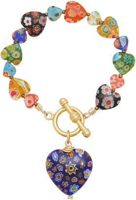 Millefiori Brinker & Eliza Capri Heart Bracelet