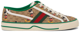 Gucci Brown Disney Edition GG Tennis 1977 Sneakers