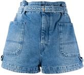 Isabel Marant paperbag waist denim shorts
