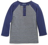 Andy & Evan Infant Boys' Striped Henley Tee - Sizes 6-24 Months