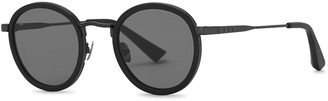 Taylor Morris Eyewear Zero Matte Black Round-frame Sunglasses
