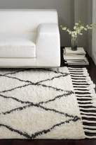 nuLoom Hand Knotted Fez Shag Wool Rug - Natural
