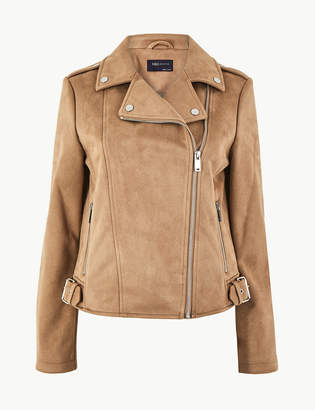 M&S CollectionMarks and Spencer Faux Suede Biker Jacket