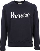 Kitsune Navy parisien Printed Sweatshirt