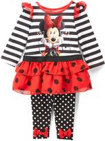 Children's Apparel Network Minnie Mouse Stripe & Polka Dot Tunic & Leggings - Infant