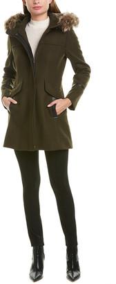 Trina Turk Trina Trina By Hooded Wool-Blend Coat