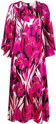 La DoubleJ Floral-Print Silk Maxi Dress