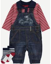 George 3 Piece Dungarees, Polo Shirt and Socks Set