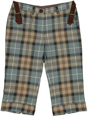 Philosophy di Alberta Ferretti Green Wool Shorts for Women