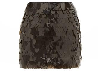 Aje Pippa Sequinned Silk Mini Skirt - Black