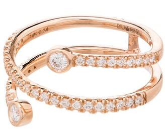 Dana Rebecca Designs 14kt Rose Gold Pave Diamond Ring