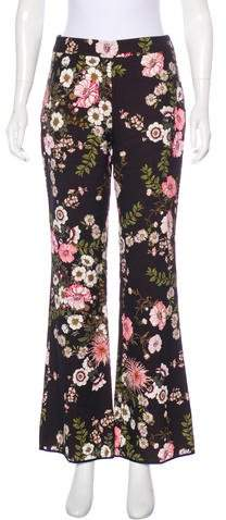 Giambattista Valli Floral High-Rise Pants