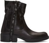 Diesel Black Zip D-RR Boots