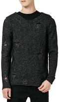 Topman Men's Ripped Longline Sweater