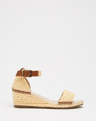 Human Premium - Women's Brown Sandals - Rutherglen Wedge Sandals - Size 37 at The Iconic