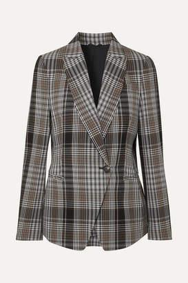 Brunello Cucinelli Checked Wool Blazer - Gray