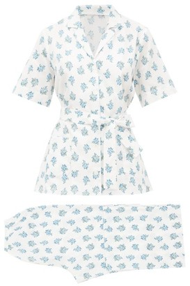 Emilia Wickstead Fifi Floral-print Cotton Pyjamas - Womens - White Print