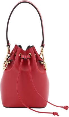 Fendi Leather Bucket Bag w/Crossbody Strap