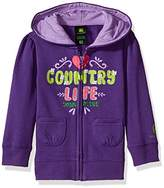 John Deere Baby Girls' Fleece Zip Front Hoody