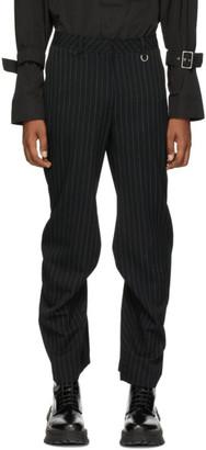 we11done Black Stripe Trousers