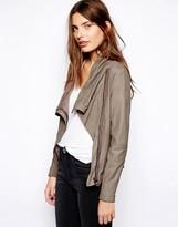 Muu Baa Muubaa Sinoia Drape Leather Jacket