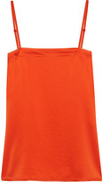 DKNY Georgette-trimmed Satin Camisole - Orange