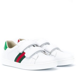 Gucci Kids TEEN Ace touch-strap sneakers