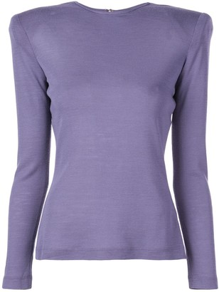 Christian Siriano structured shoulders T-shirt