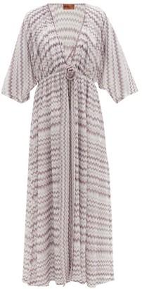 Missoni Mare - Zigzag-knitted Lame Kaftan - White Multi