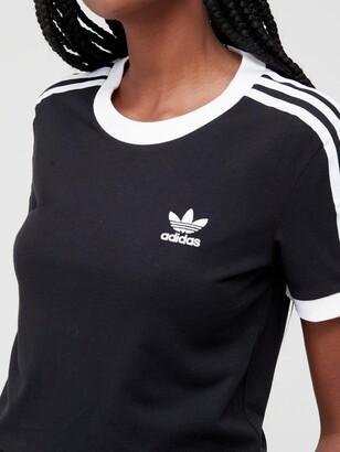adidas 3 Stripe Tee - Black