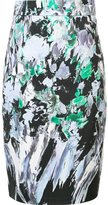 Milly printed straight skirt