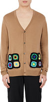 J.W.Anderson Men's Crocheted-Pocket Merino Wool Cardigan