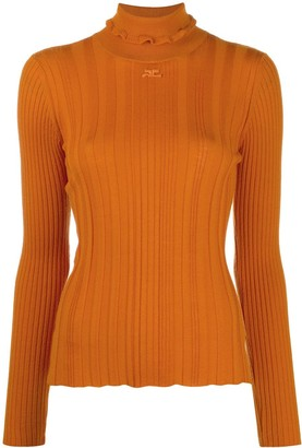 Courreges Embroidered Logo Wool Jumper