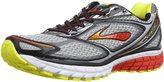 Brooks Men's Ghost 7 Silver/Black/Marsred Running Shoe 9.5 Men US