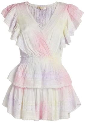 LoveShackFancy Tie-Dye Gwen Ruffle Dress