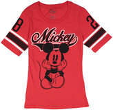 Jerry Leigh Mickey Mouse Red Varsity Tee - Juniors