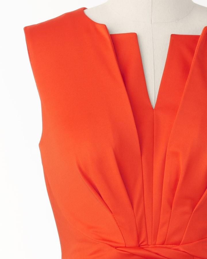 Coldwater Creek Coral twist dress