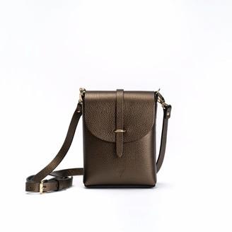 Astrum Leather Bag Metallic Brown