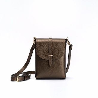 Hiva Atelier Astrum Leather Bag Metallic Brown