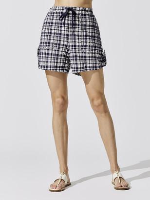 Solid & Striped Drawstring Shorts