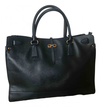 Salvatore Ferragamo Navy Leather Handbags